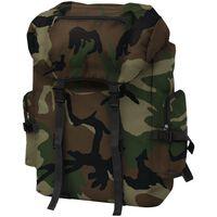 vidaXL Sac à dos en style d'armée 65 L Camouflage