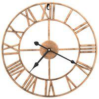 vidaXL Horloge murale Métal 40 cm Doré