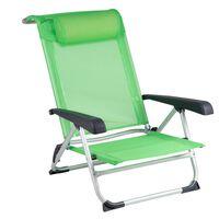 Bo-Camp Chaise de plage Aluminium Vert