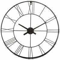 Horloge géante Silence métal noir D70 cm Atmosphera
