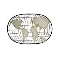 Carte Du Monde, Décoration Murale En Métal - Geo
