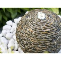 Fontaine de jardin en pierres naturelles AquaArte Trente LED