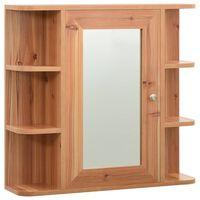 vidaXL Armoire à miroir de salle de bain Chêne 66x17x63 cm MDF
