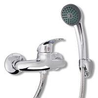 vidaXL Kit de robinet de douche Chrome