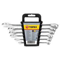 topex jeu de bagues / clés 8-17mm 6 pcs