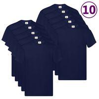 Fruit of the Loom T-shirts originaux 10 pcs Bleu XXL Coton