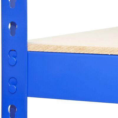 3 Rayonnages Q-rax Bleus 90cm X 50cm X 182cm & 2 Rayonnages Q-rax