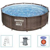 Bestway Ensemble de piscine Steel Pro MAX Deluxe Series 366x100 cm