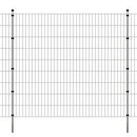 vidaXL Panneau de clôture 2D de jardin+poteaux 2008x1830mm 2m Argenté