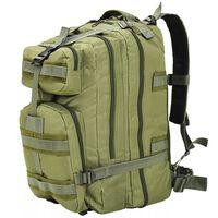 vidaXL Sac à dos en style militaire 50 L Vert olive