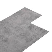 vidaXL Planches de plancher PVC 4,46 m² 3 mm Autoadhésif Marron ciment