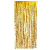 Rideau festif pailleté doré 1x2 mètres