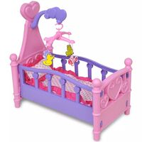 vidaXL Lit de poupée pour chambre d'enfants Rose et violet
