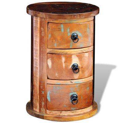 vidaXL Armoire avec 3 tiroirs Bois de récupération massif