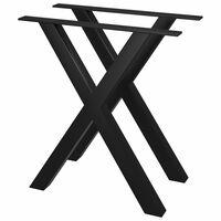 vidaXL Pieds de table de salle à manger 2 pcs Cadre en X 70x72 cm
