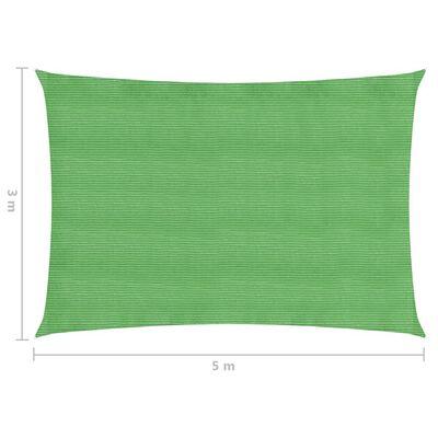 vidaXL Voile d'ombrage 160 g/m² Vert clair 3x5 m PEHD
