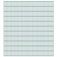 vidaXL Panneaux de clôture de jardin 2D 2,008x2,23 m 8 m total Vert