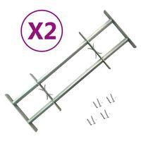 vidaXL Grilles réglables de sécurité de fenêtres 2 pcs 700-1050 mm