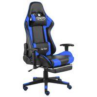 vidaXL Chaise de jeu pivotante avec repose-pied Bleu PVC