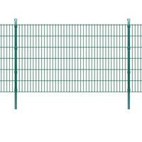 vidaXL Panneaux et poteaux de clôture 2D pour jardin 2008x1230 mm 36 m