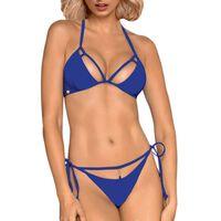 Obsessive Bain - Ensemble maillot string sexy Costarica bleu