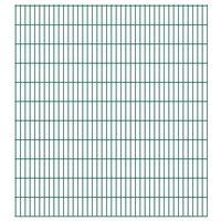 vidaXL Panneaux de clôture de jardin 2D 2,008x2,23 m 40 m total Vert