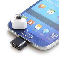 Adaptateur USB vers MicroUSB OTG - blanc