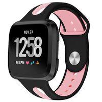 Bracelet en silicone Fitbit Versa - noir / rose