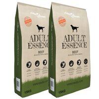 vidaXL Nourriture sèche pour chiens Adult Essence Beef 2 pcs 30 kg