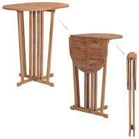vidaXL Table pliable de bar 100x65x105 cm Bois de teck solide