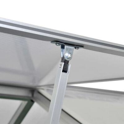 vidaXL Serre renforcée en aluminium avec cadre de base 9,025 m²
