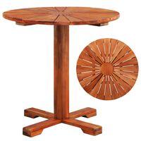 vidaXL Table de bistro 70x70 cm Bois d'acacia massif