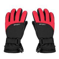 Gants d'hiver épais unisexe Taille L - Noir / rouge