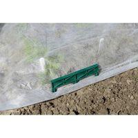 Lot de 4 griffes de fixation au sol en plastique pour film de forçage
