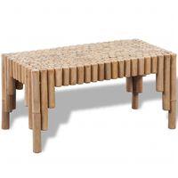 vidaXL Table basse Bambou