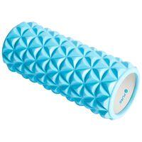 Pure2Improve Rouleau de yoga 33x14 cm Bleu et blanc