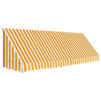 vidaXL Auvent de bistro 400x120 cm Orange et blanc