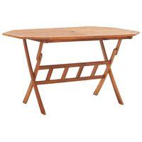 vidaXL Table pliable de jardin 135 x 85 x 75 cm Bois d'acacia massif