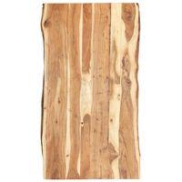 vidaXL Dessus de table Bois d'acacia massif 120x(50-60)x3,8 cm