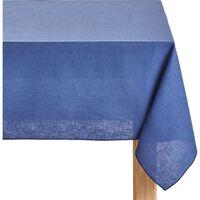 Nappe Bleu Lin Et Coton Rectangulaire 170x250 - Lucciana