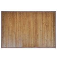 vidaXL Tapis de bain Bambou 60 x 90 cm Marron