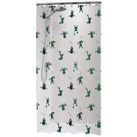 Sealskin Rideau de douche Freddy 180x200 cm Blanc et vert