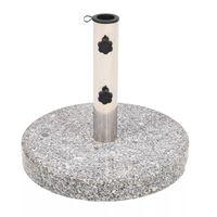 vidaXL Socle de parasol Granite Rond 22 kg
