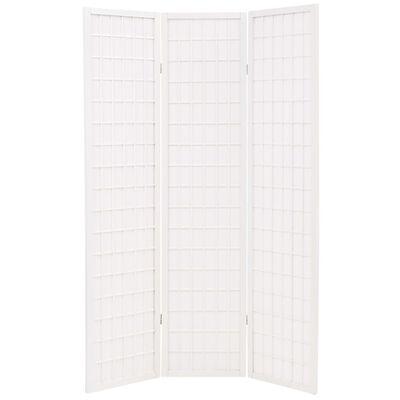 vidaXL Cloison de séparation 5 panneaux Style japonais 200x170cm Blanc