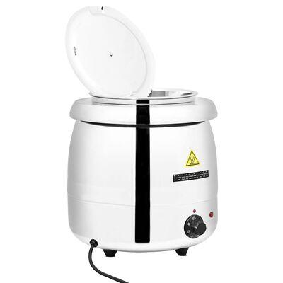 vidaXL Marmite à soupe électrique Acier inoxydable 10 L