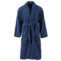 vidaXL Peignoir unisexe Terry 100 % Coton Bleu marine XXL