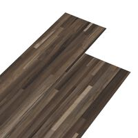 vidaXL Planches de plancher PVC 5,26 m² 2 mm Marron rayé