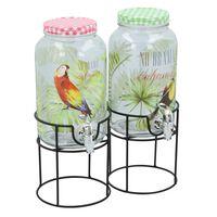 Cuisine distributeur de boissons Elegance - verre - 3 litres