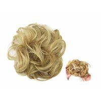 Chouchou aux cheveux synthétiques - marron clair