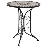 vidaXL Table de bistro mosaïque Gris 61 cm Céramique